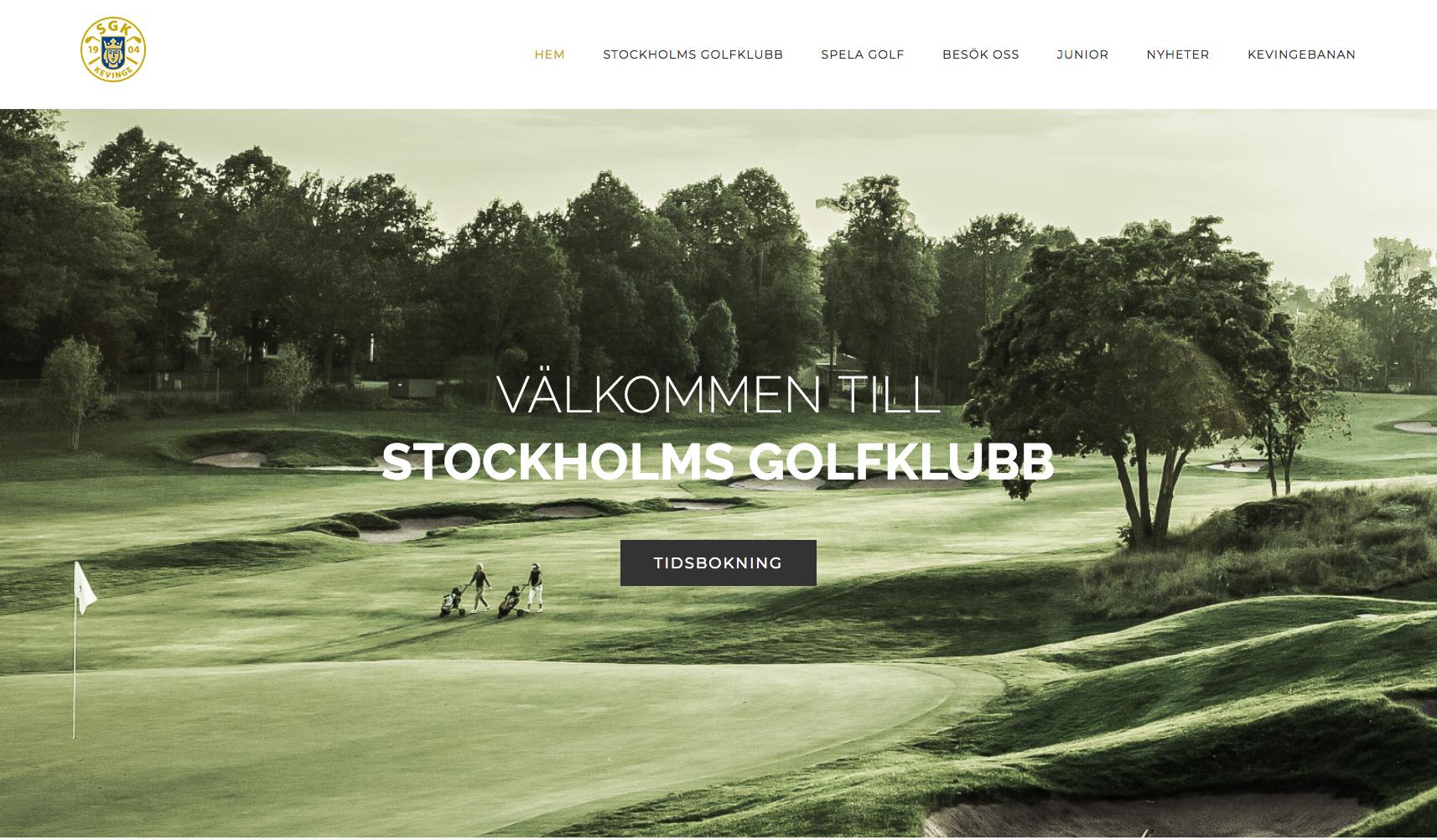 Stockholms Golfklubb - artig made it! webbyrå